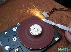 DIY Grinding wheel from used hard drive