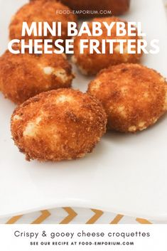 The quickest way to make a cheese croquettes for birthday parties or a football game. See our recipe online. Babybel Cheese Recipes, Cheese Snacks, Cheese Dishes, Food Dishes, Vegetarian Platter, Vegetarian Snacks, Healthy Snacks, Mexican Food Recipes, Cookie Recipes