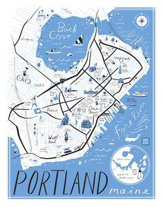 Libby Vanderploeg, Map of Portland Maine on Behance