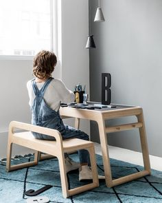 wooden design desks and tables for children. Rafa-kidsUnique wooden design desks and tables for children. 70s Furniture, Diy Kids Furniture, Design Furniture, Large Furniture, Plywood Furniture, Cheap Furniture, Furniture Plans, Furniture Stores, Furniture Buyers