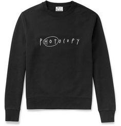 Acne Studios Casey Slogan Printed Cotton Sweatshirt | MR PORTER
