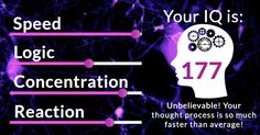 How high is your IQ? We will tell you!