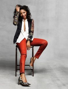 The Lucky Denim Guide: Colorful Skinnies featuring the Amalia Hi Rise Skinny in Vermillion at E Street Denim Gamine Style, Fashion News, Fashion Trends, Fashion Fashion, Denim Fashion, Passion For Fashion, Couture, What To Wear, Cute Outfits