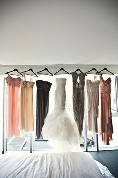 Mixing it up with bridesmaids dresses.