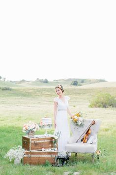 """""""Fields of Love"""" Summer Wedding Inspiration by Rose and Delilah"""