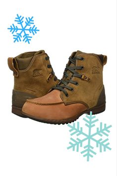 The men's Ankeny Moc Toe Boot from Sorel has a waterproof leather and suede upper, seam-sealed waterproof construction, and still manages to weigh less than most men's boots. It's as at home on city streets as on the trail, and has a deep herringbone tread to prevent slips in snow, ice, and rain.
