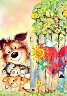 My Wishlist - Ekaterina Chistyakova - Picasa Web Albums Cute Animal Illustration, Graphic Illustration, Dream Illustration, Mr Cat, Vintage Christmas Wrapping Paper, Colouring Pics, Illustrations And Posters, Whimsical Art, Decoupage