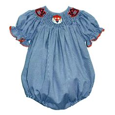 Olivia will need this  Auburn Girls Smocked Bubble from Smocked Auctions