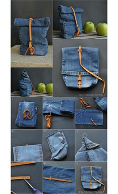 DIY new ways to recycle clothes diy recycle upcycle r… - UPCYCLING IDEASDenim snack bag . DIY new ways to recycle clothes diy recycle upcycle r ., denim Denim poncho made Jean Crafts, Denim Crafts, Diy Jeans, Diy With Jeans, Reuse Jeans, Sewing Jeans, Artisanats Denim, Denim Skirt, Jean Diy