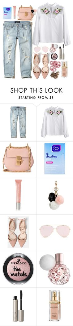 """""""election rose"""" by feerubal ❤ liked on Polyvore featuring Hollister Co., Chloé, Clean & Clear, Burberry, GUESS, Ilia, Elizabeth Arden, Dolce&Gabbana and Unique"""