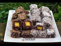 Prajitura tavalita cu nuca si cocos, o reteta simpla si gustoasa a copilariei, numita si Lamington. Romanian Desserts, Romanian Food, Cooking Tips, Cooking Recipes, Sweet Cooking, Food Festival, Gin, Sushi, Deserts