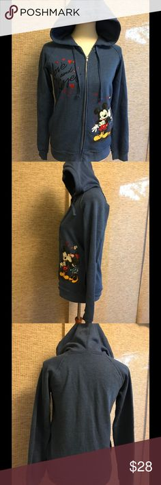 Disney Store women's XS Micky Minnie hoodie This super cute Disney store women's extra small embellished Mickey Minnie is a full zip hoodie sweatshirt. Excellent used condition. Disney Jackets & Coats