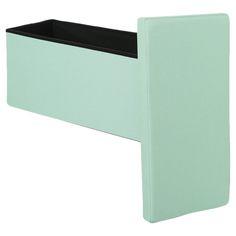 Coffre de rangement pliable vert aqua, 76 x 38 x H 38 cm