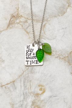 If Only for a Short Time Necklace Foster Care by therhouse on Etsy, $42.00