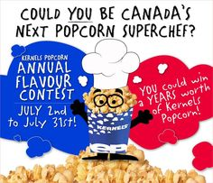 Enter the #Kernels Flavour Contest - you could WIN a Year's Worth of Kernels Popcorn! #winwin http://woobox.com/n8hn58