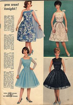 Lobell 1962 Please help spread the word Like You rock! 60s And 70s Fashion, Retro Fashion, Vintage Fashion, 1960s Fashion Women, Vintage Dress Patterns, Vintage Dresses, Vintage Outfits, 20th Century Fashion, Mode Vintage