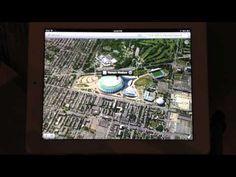 Montréal vue en 3D par l'application Plans du iOs 6 sur le nouveau iPad