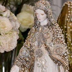 Lily-Baby-Shop: Decoracao Religiosa e Sacra - Santas - Nossa Senhora da Aparecida , Nossa Senhora de Fatima, Nossa Senhora das Gracas com Aplicacao em Pedraria e Mini Perola