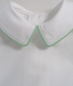 Apple Green Piped Baby Shirt - Patricia Smith Designs