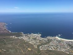 View from Table Mountain Boulder Beach, Table Mountain, Cape Town, Bouldering, Airplane View, South Africa