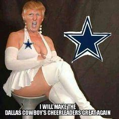 dallas cowboy cheerleader trump emme