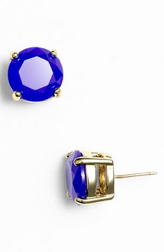 kate spade new york colored stone stud earrings available at #Nordstrom