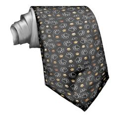 Dog Puppy Paw Prints Gifts for Dog Lovers Necktie SOLD on Zazzle