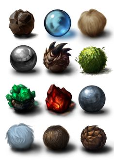 Materials study by Ateo88.deviantart.com on @deviantART