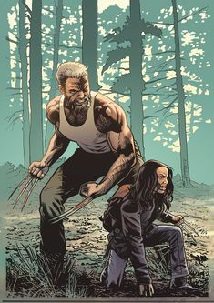 Wolverine and Laura Hq Marvel, Marvel Comic Universe, Comics Universe, Marvel Heroes, Marvel Cinematic, Comic Book Characters, Marvel Characters, Comic Character, Comic Books Art