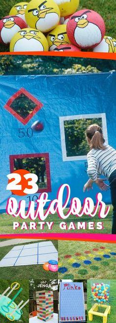 23 Outdoor Party Games via @spaceshipslb