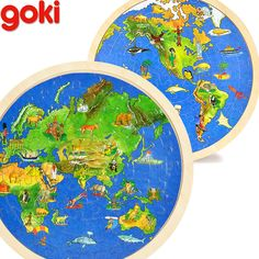 57pcs 30*30CM Wooden World Map 3D Puzzles Duplex For Children Education Learning Toy Gift For Travellers