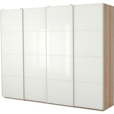IKEA PAX Wardrobe with interior organizers, white stained oak effect,... ($1,653) ❤ liked on Polyvore featuring home