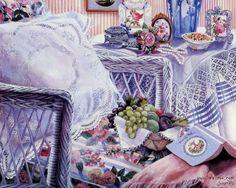 SUSAN RIOS | Dance - Susan Rios Paintings of Enchanting Victorian Rooms Wallpaper
