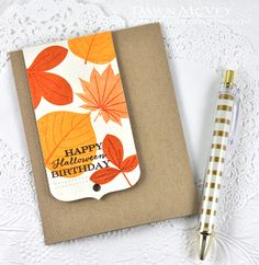 Happy Halloween Birthday Card by Dawn McVey for Papertrey Ink (September 2014)
