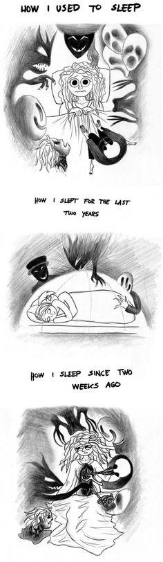How I sleep...