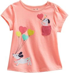 Shop for Jumping beans ® hearts & puppies tee - baby by Babydoll at ShopStyle. Fashion Kids, Discount Kids Clothes, Polo Shirt Outfits, Kids Nightwear, T Shirt Painting, Kids Clothing Brands, Tk Maxx, Girls Tees, Kids Girls