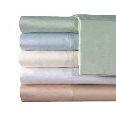 Veratex, Inc. Supreme Sateen 300-Thread Count Solid Bedding Sheet Set, Blue