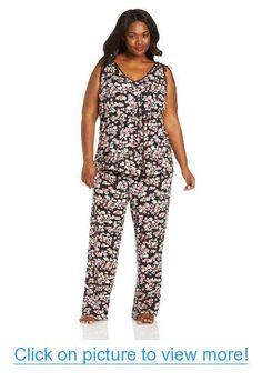 Midnight by Carole Hochman Women's Plus-Size Pajama Set