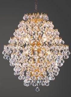 Kristallen hanglamp goud
