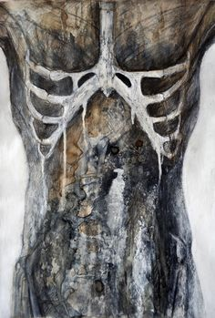 "(Artist yn cyfleu gweadau dwys i Ffion Mathias) Mabrelle- ""Viscera I"" Human Anatomy Art, Anatomy Drawing, Decay Art, Art Brut, A Level Art, Gcse Art, Human Condition, Figurative Art, Art Studios"