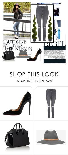 """""""Untitled #197"""" by azurre7 ❤ liked on Polyvore featuring Été Swim, Christian Louboutin, Topshop, Givenchy, rag & bone and Nearly Natural"""