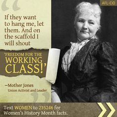 Learn more about other phenomenal women who have fought for workers' rights to a fair wage, dignified working conditions, and freedom to organize. http://www.aft.org/yourwork/tools4teachers/women/labor.cfm #nwhm