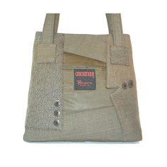 Recycled men's suit coats handbag / tote...SOOO COOL!!