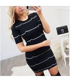 2edfb58618c ROBE PULL LINEA BLACK - By Blondie - Boutique en ligne de prêt à porter  féminin