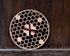 Birds Wooden Wall Clock Home Décor Wood Clock Wall Hanging by SnazzyNestShop   Etsy