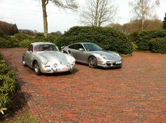 Porsche-356-B-Model-in-Carrera-Optik-kompl-Neuaufbau