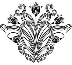 Art Nouveau Floral Designs 3