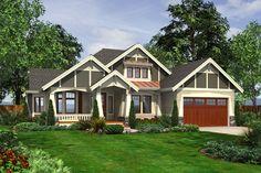Craftsman Style House Plan - 4 Beds 3 Baths 2580 Sq/Ft Plan #132-202 Exterior - Front Elevation - Houseplans.com