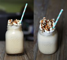 Milkshake vanille caramel Caramel, Panna Cotta, Pudding, Ice Cream, Fruit, Ethnic Recipes, Desserts, Food, Milkshakes