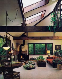 Designer Gary Tuchman. FAMILY ROOMS, DENS & STUDIOS | Sunset Books ©1979